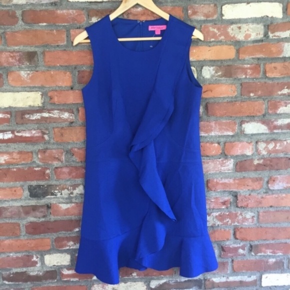 Betsey Johnson Dresses & Skirts - Betsey Johnson Royal Blue Ruffle Dress NWOT